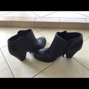 Mia black chunk heel ankle boots. New. Size 8